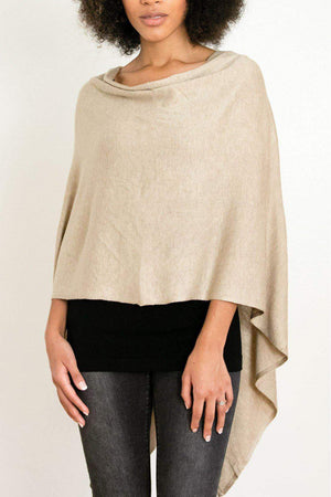 EcoVibe Style - 8-Way Convertible Poncho,  | Light Taupe
