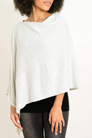 EcoVibe Style - 8-Way Convertible Poncho,  | Light Smoke