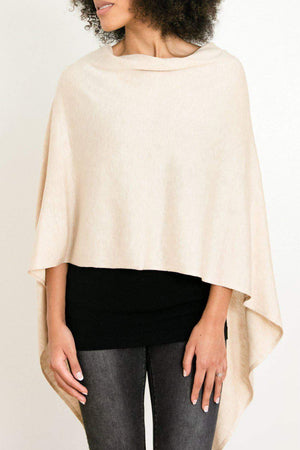 EcoVibe Style - 8-Way Convertible Poncho,  | Light Beige