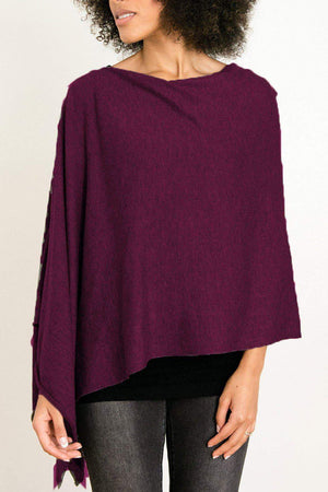 EcoVibe Style - 8-Way Convertible Poncho,  | Mulberry