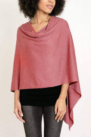 EcoVibe Style - 8-Way Convertible Poncho,  | Berry
