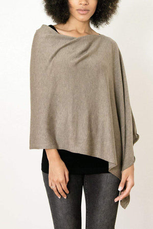 EcoVibe Style - 8-Way Convertible Poncho,  | Taupe
