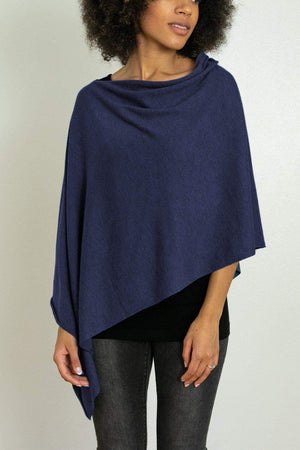 EcoVibe Style - 8-Way Convertible Poncho,  | Navy
