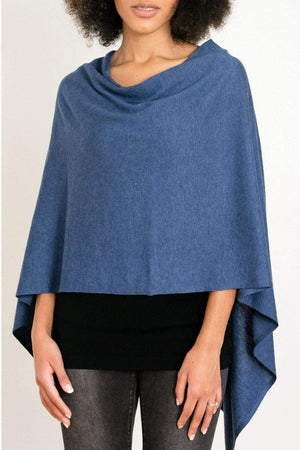 EcoVibe Style - 8-Way Convertible Poncho,  | Midnight Blue