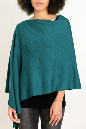 EcoVibe Style - 8-Way Convertible Poncho,  | Dark Teal