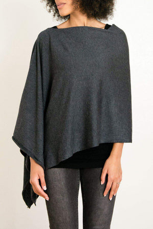 EcoVibe Style - 8-Way Convertible Poncho,  | Dark Charcoal