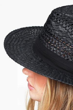 EcoVibe Apparel: Ambrosia Panama Hat in Black, Hat, EcoVibe Apparel