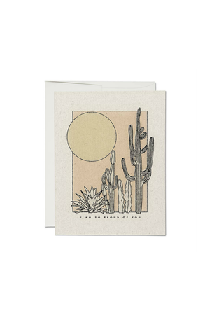 Red Cap Cards I Am So Proud of You Desert Greeting Card
