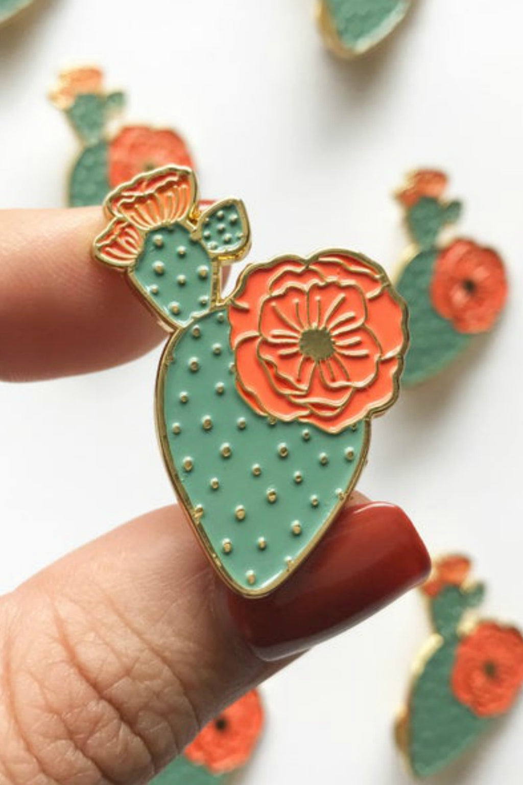 Paper Anchor Co. Mercedes Prickly Pear Lapel Pin