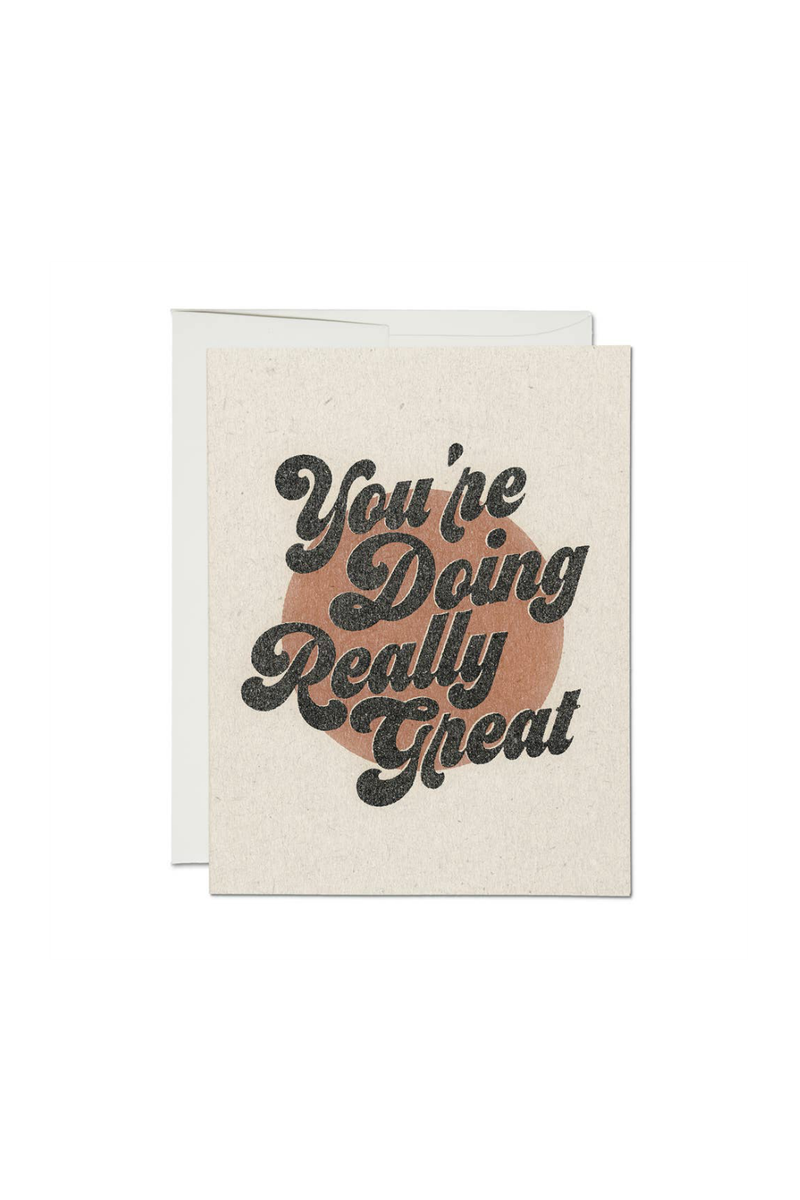 Red Cap Cards You're Doing Great Greeting Card