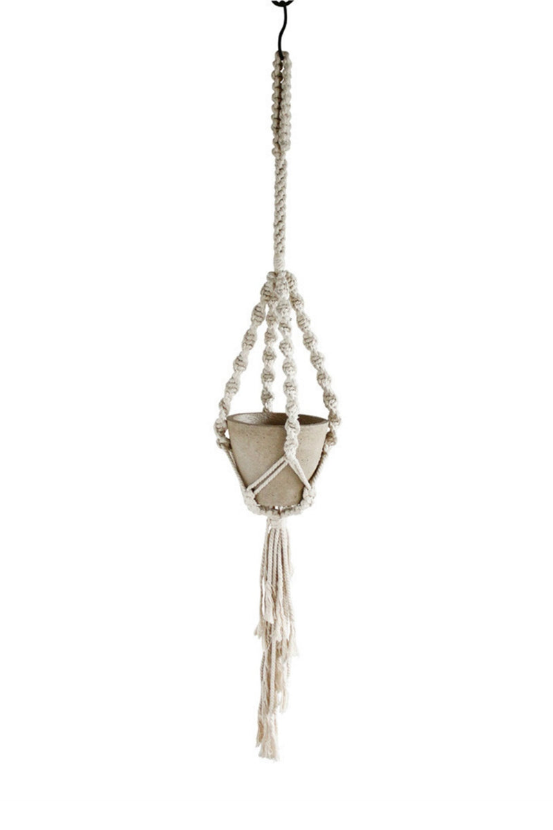 EcoVibe Style - Time Concept Macrame Plant Hanger No. 2