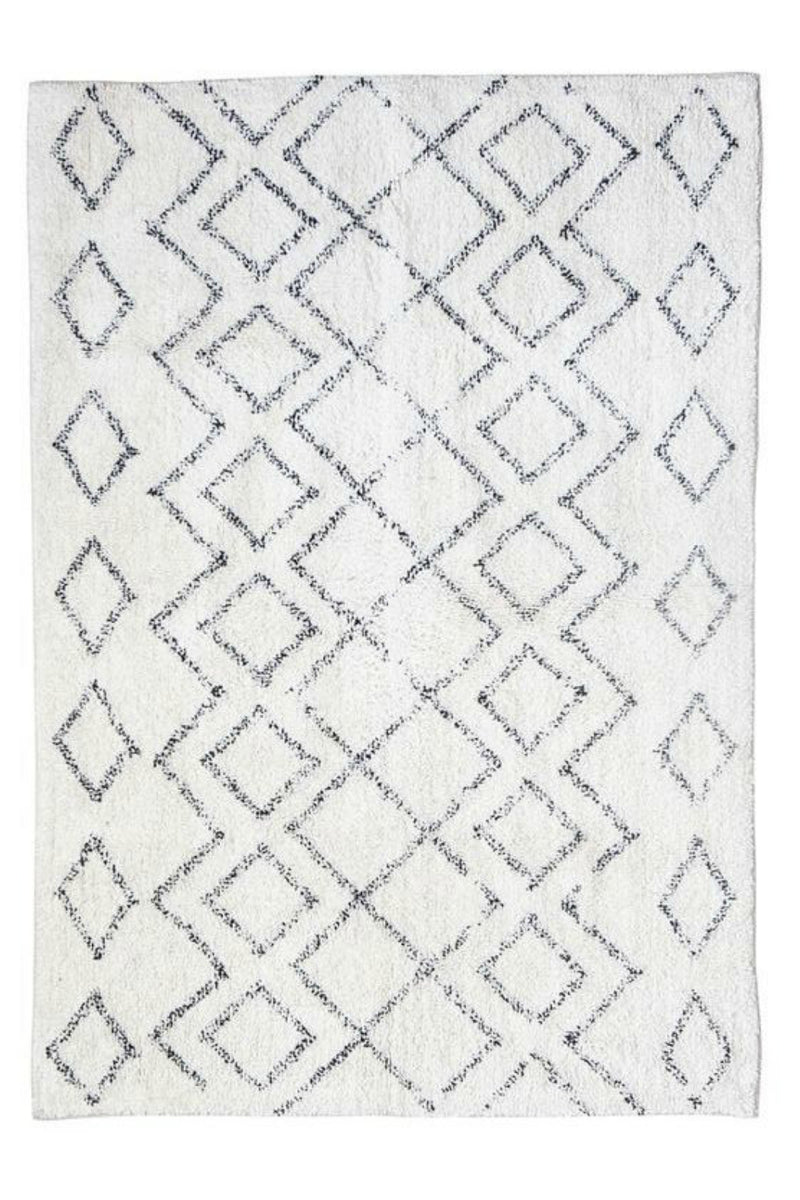 Bloomingville 4'x6' Cotton Diamond Shag Rug