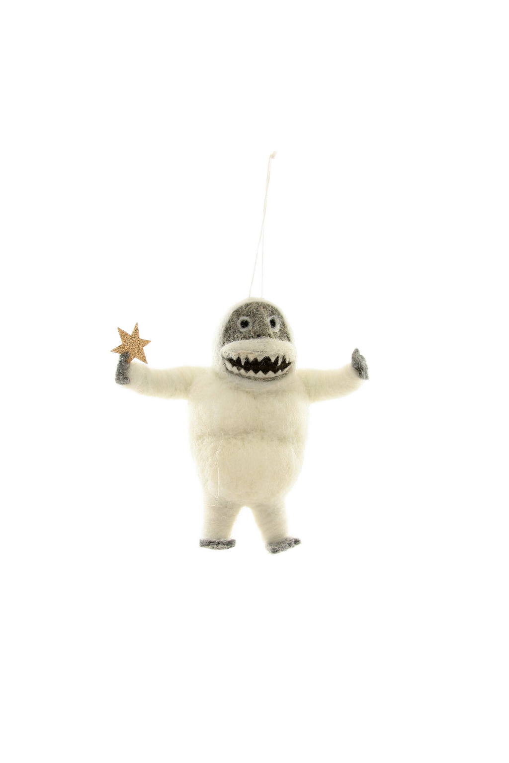 Cody Foster Felted Abominable Snowman Ornament