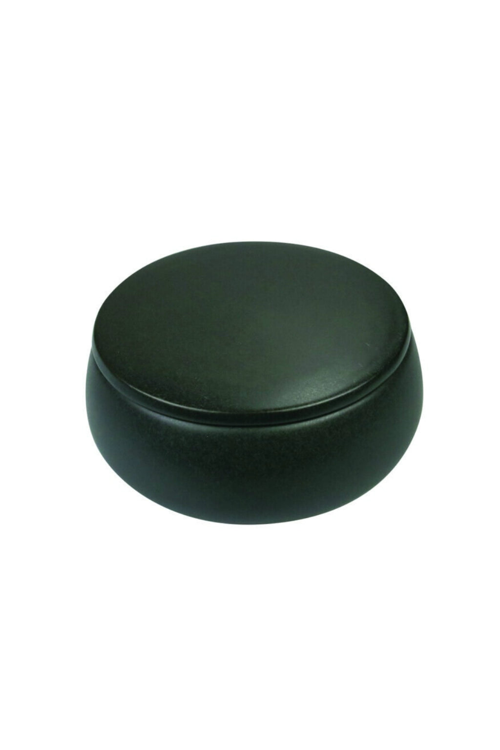 Be Home Black Stoneware Canister with Lid