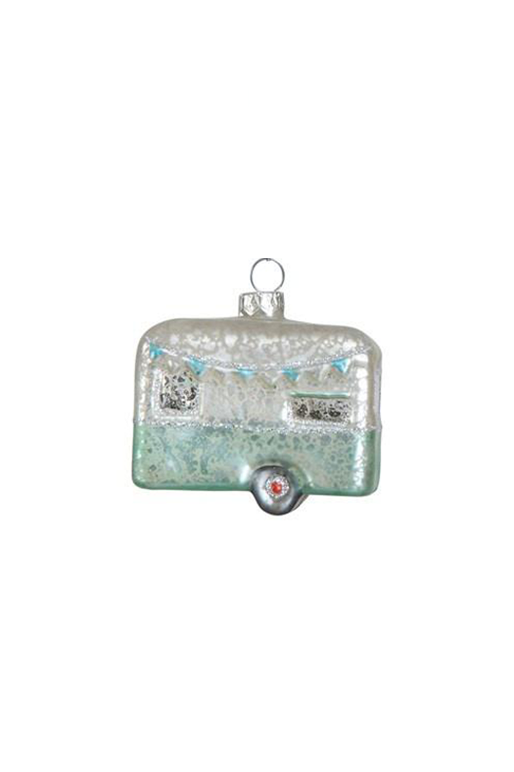 Creative Co-Op Glass Camper Ornament
