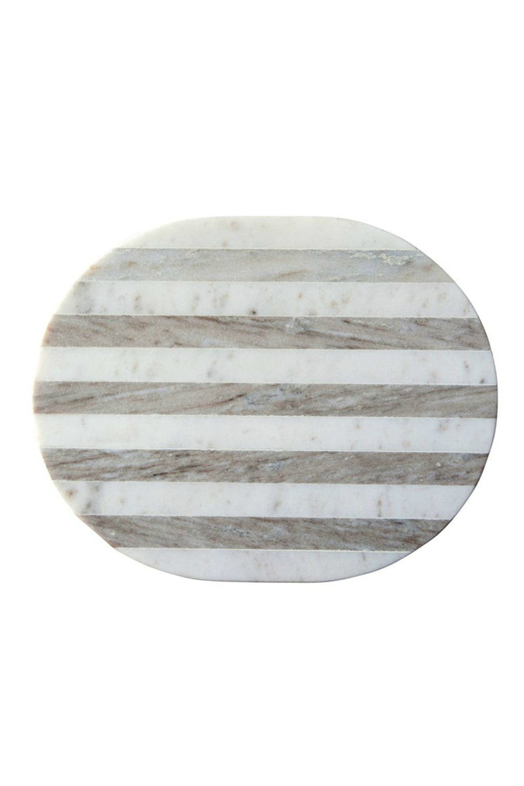 Creative co-op Marble Grey Stripe Cutting Board