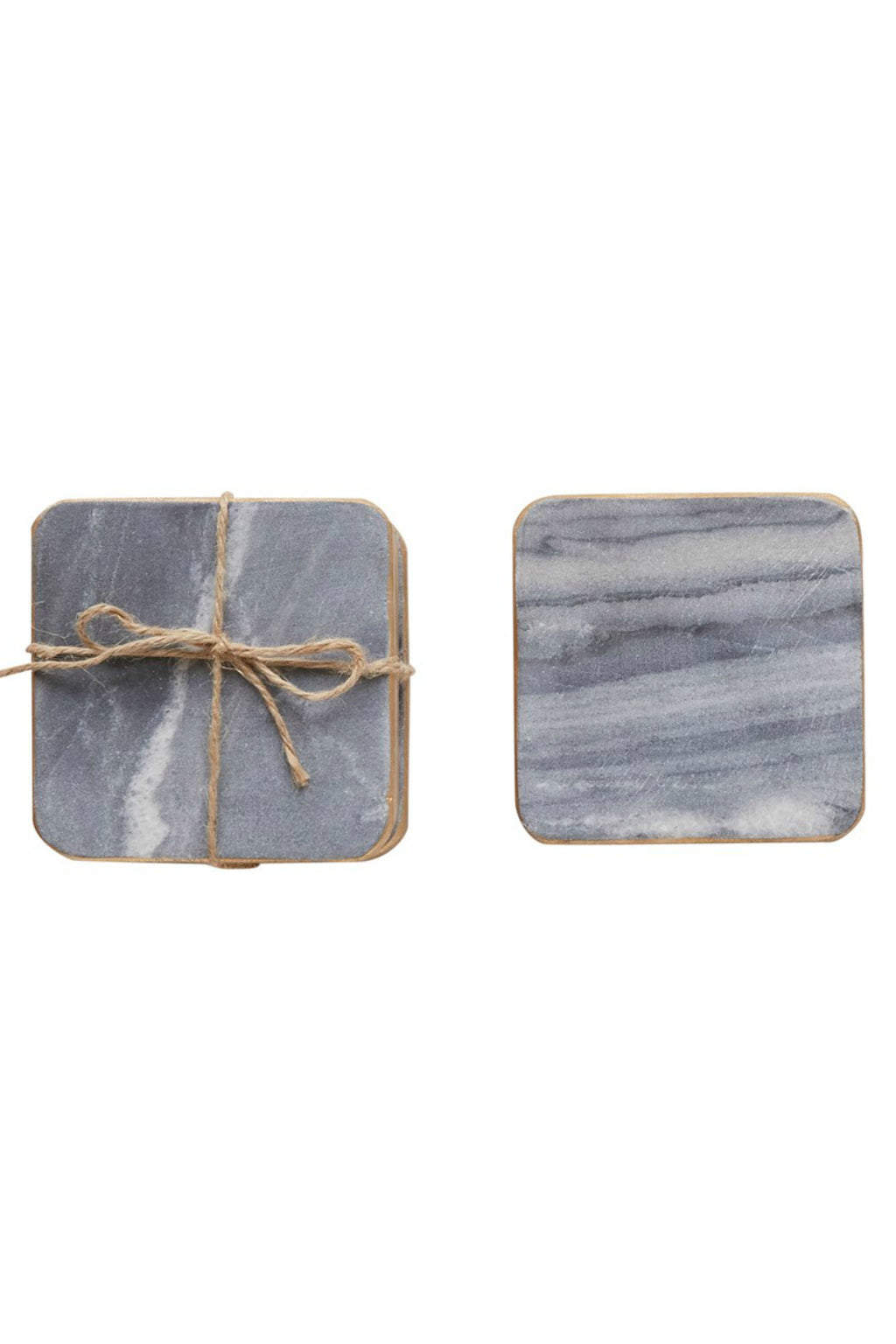 Creative Co-op Square Marble Coasters