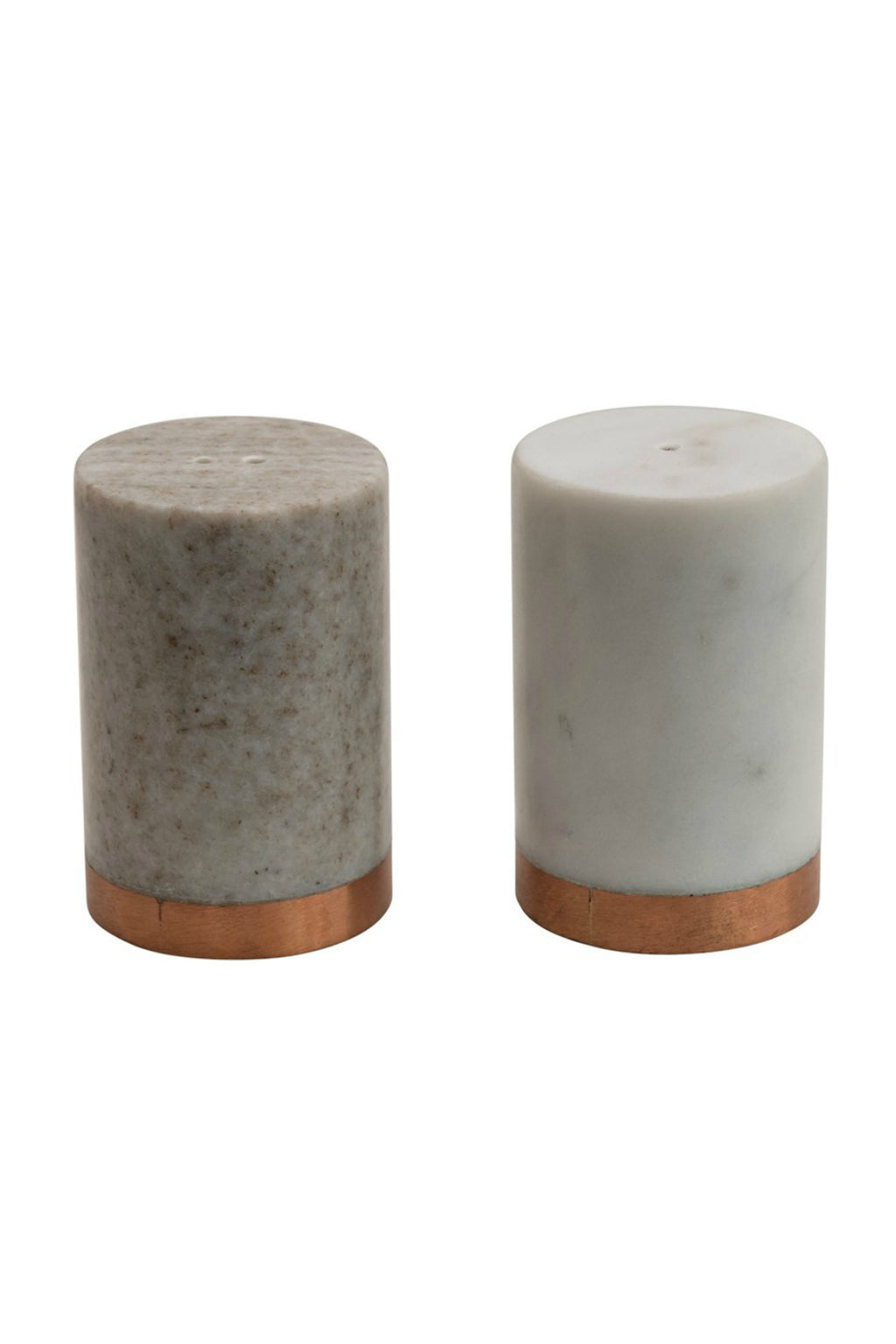 Creative Co-op Copper Marble Salt + Pepper Shakers