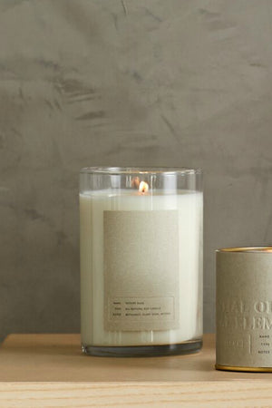 Illume Elemental Amber Bergamot Glass Candle