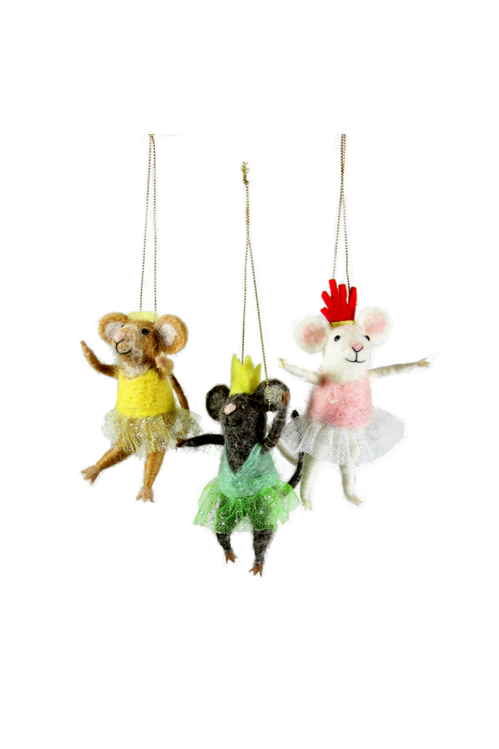 Cody Foster Felted Ballerina Mouse Ornament