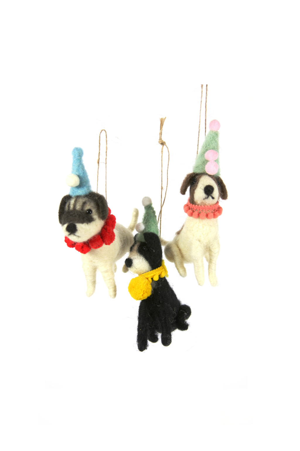 Cody Foster Felted Party Dog Ornament
