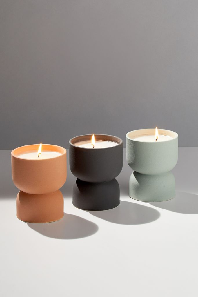 Form Ceramic Candle, Ocean Rose + Bay