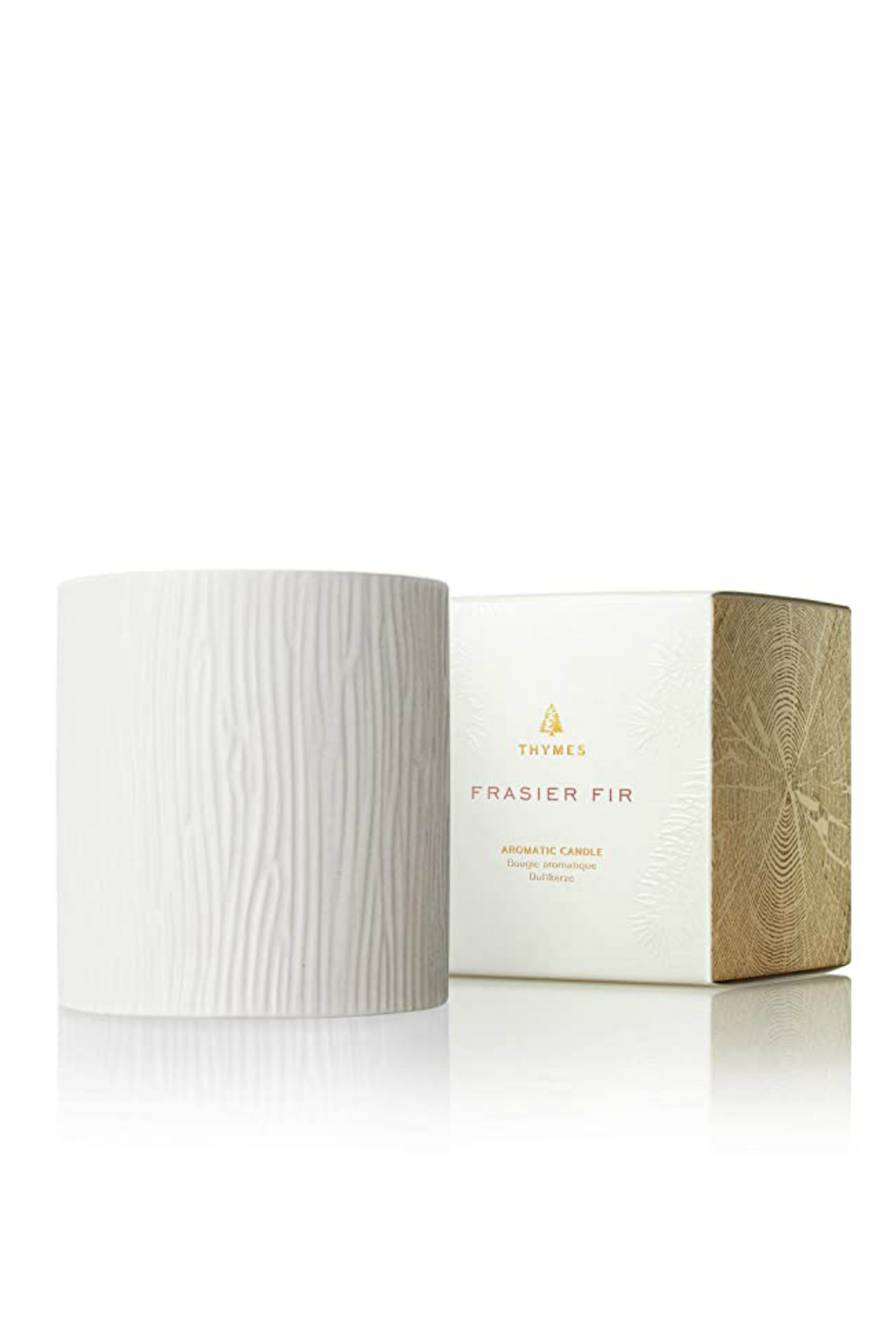 Thymes Frasier Fir Gilded Ceramic Poured Candle