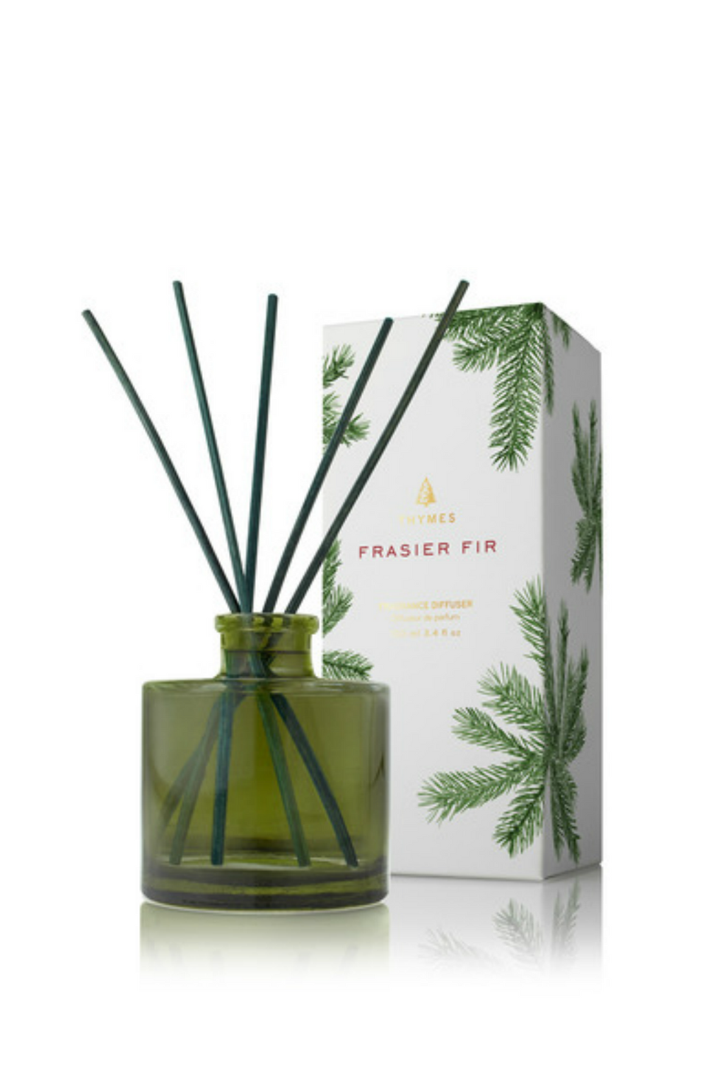 Thymes Frasier Fir Reed Diffuser, Petite Green