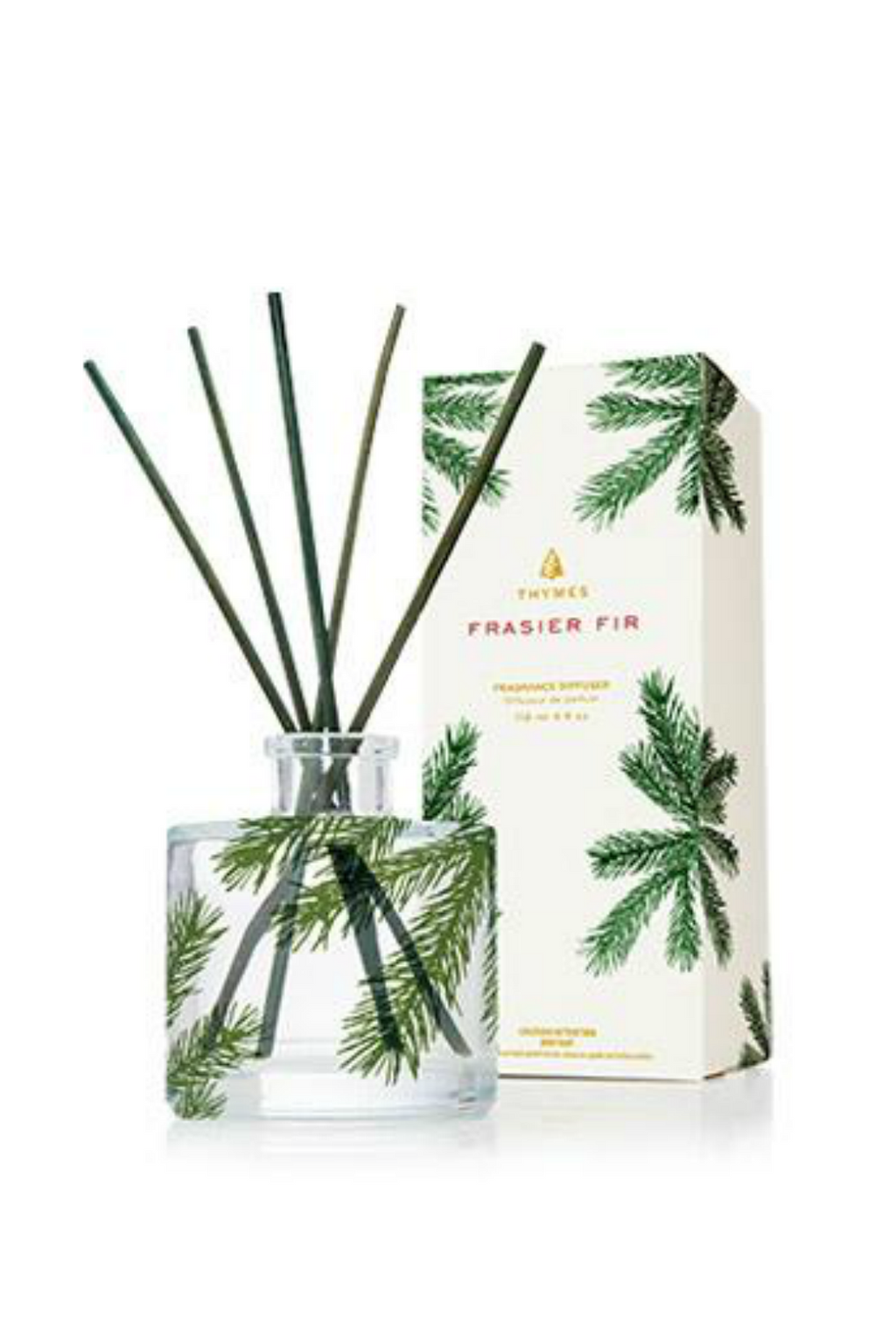 Thymes Frasier Fir Reed Diffuser, Petite Pine Needle