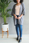 EcoVibe Freya Long Cardigan in Ash Grey