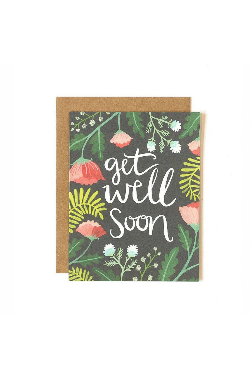 One Canoe Two Get Well Floral Greetings Card