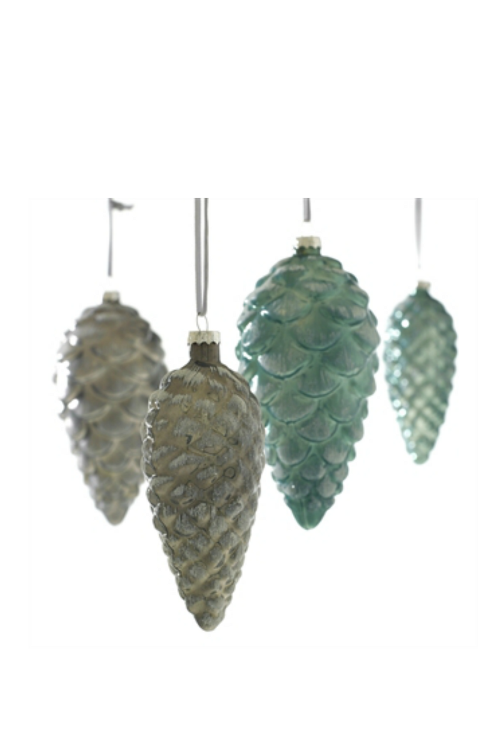 Accent Decor Glass Iced Pinecone Ornament
