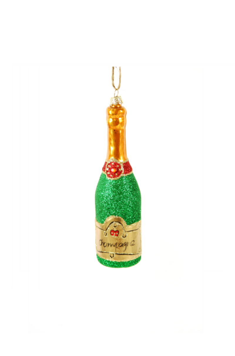 Cody Foster Glittered Champagne Ornament
