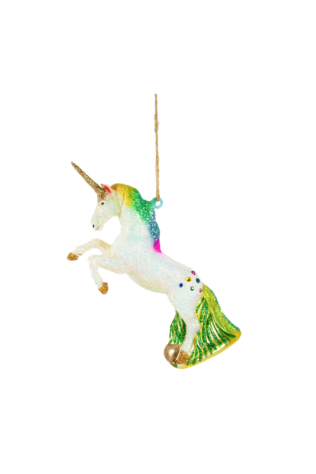Cody Foster Glittered Unicorn Ornament