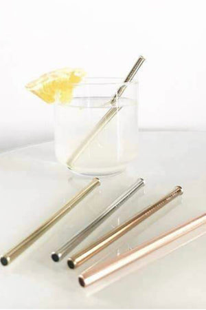 Stainless Steel Cocktail Straw Set