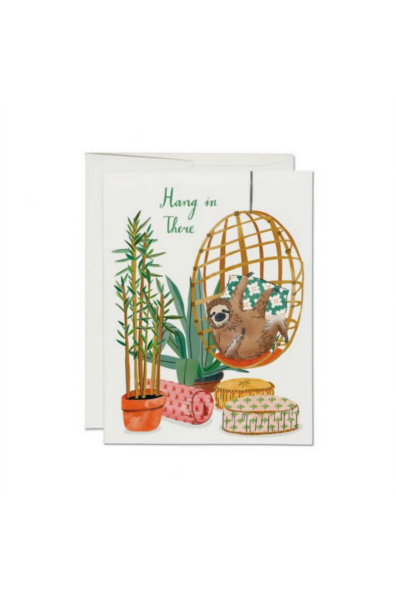 Red Cap Hang In There Greeting Card