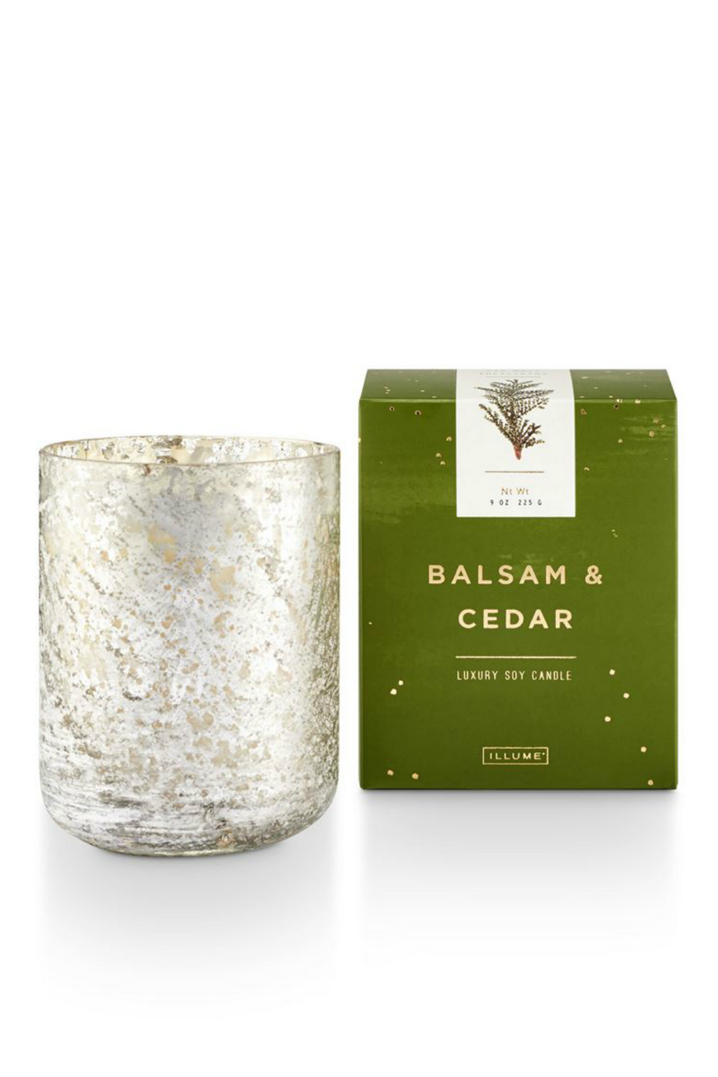 Illume Small Luxe Holiday Candle Balsam & Cedar