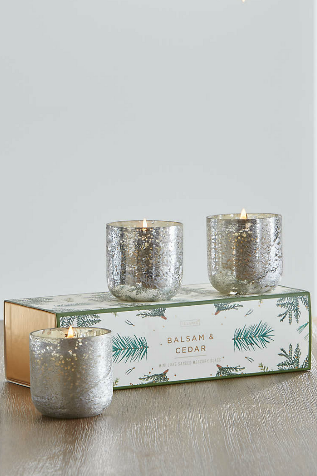 Illume Mini Luxe Mercury Glass Candle Gift Trio