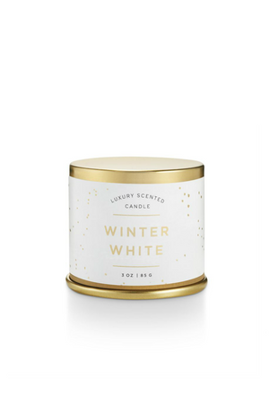 Illume Noble Holiday Demi Tin Candle Winter White
