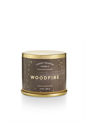 Illume Noble Holiday Demi Tin Candle Woodfire