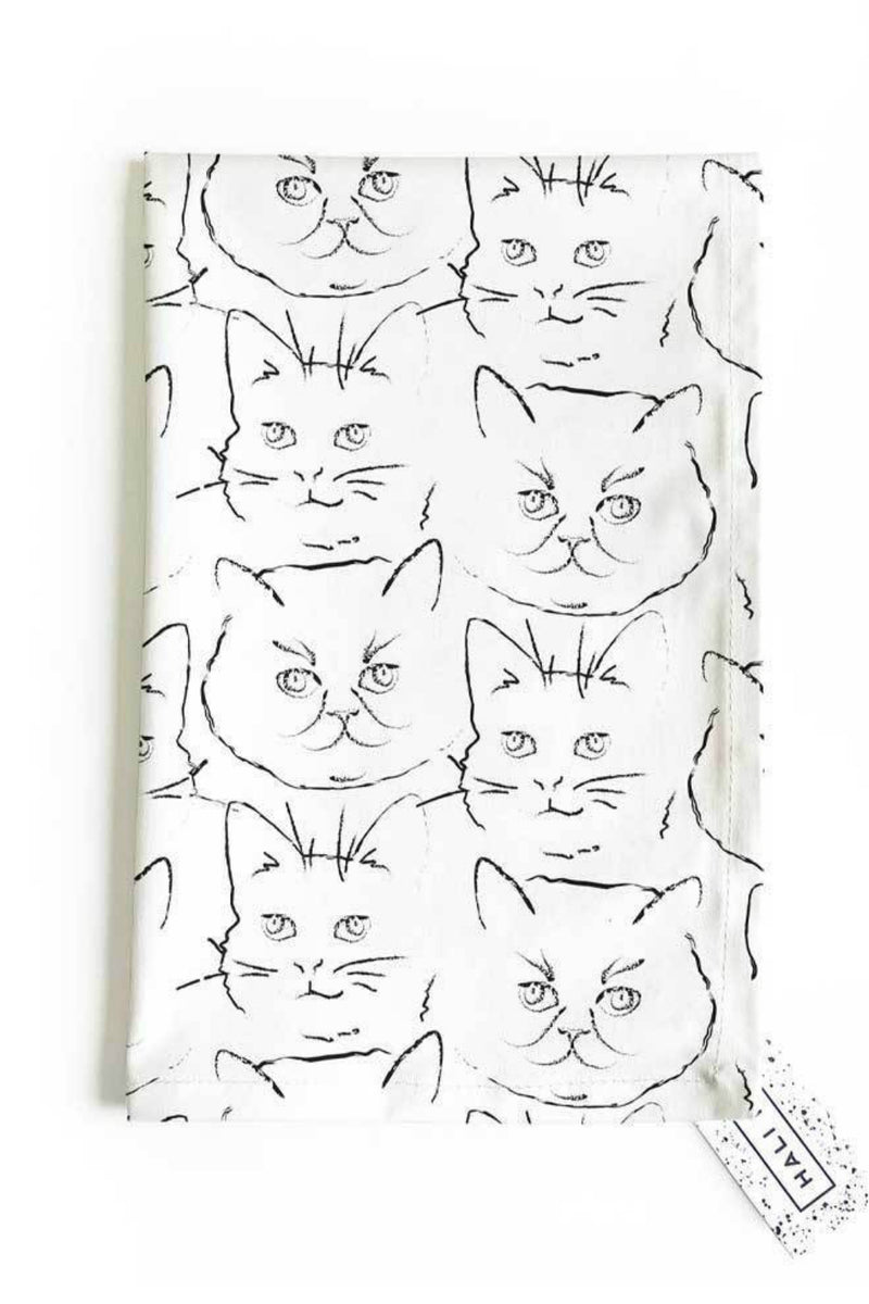 Hali Hali Kitty Tea Towel