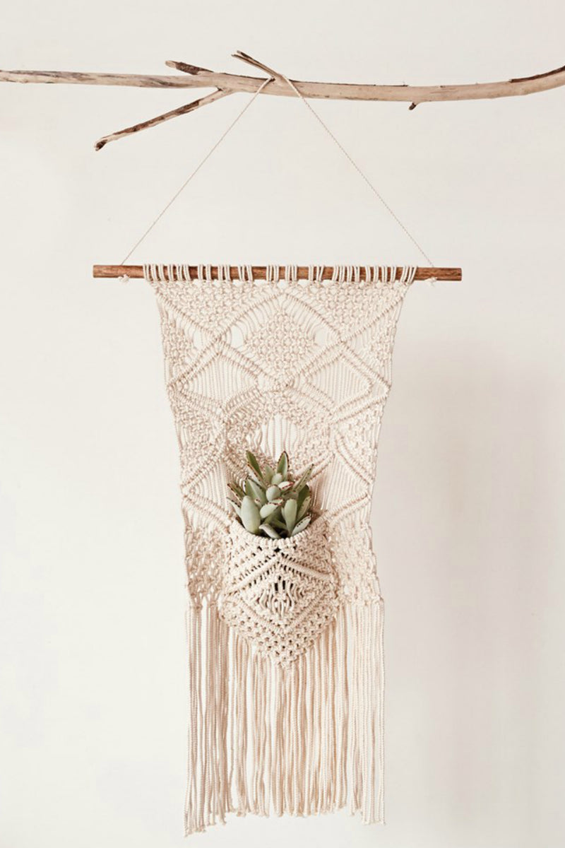 Creative Co-op Cotton Macrame Wall Plant Hanger