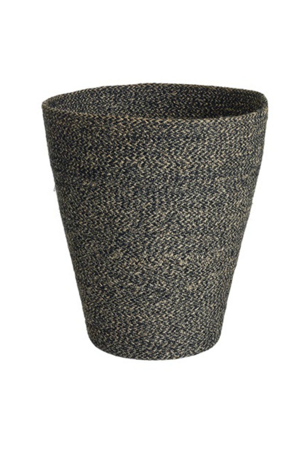 Texture by Design Ideas Melia Lined Basket Black