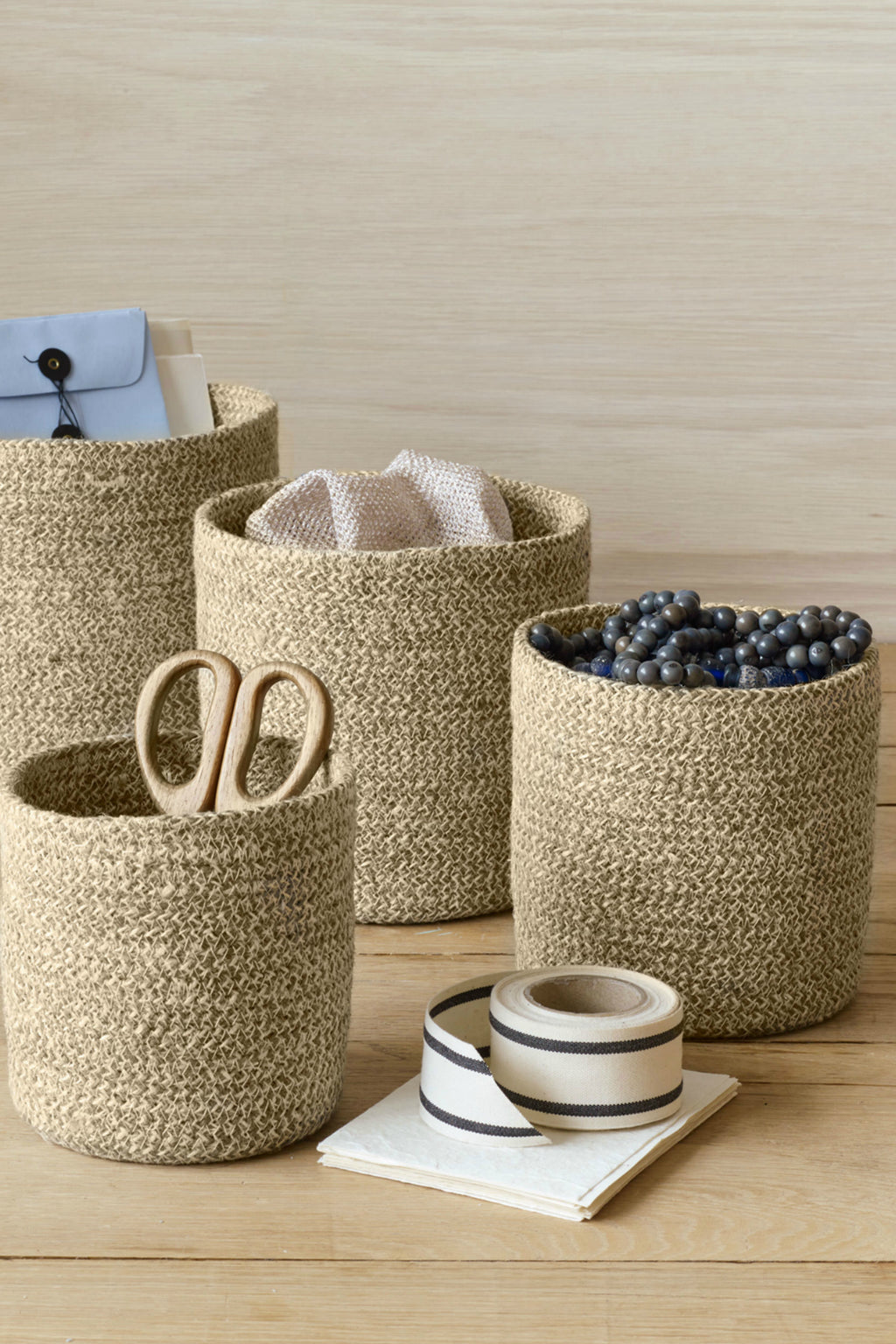 Texture by Design Ideas Melia Basket in Sand