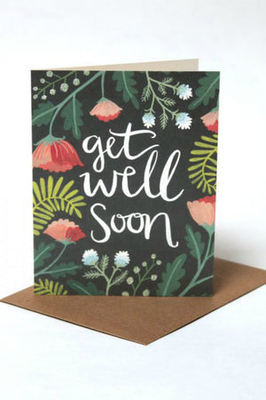 One Canoe Two Get Well Floral Greeting Card