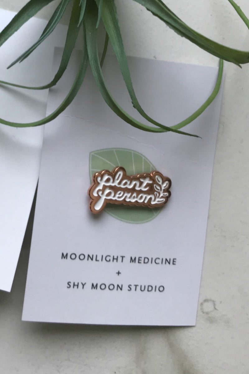 Moonlight Medicine Plant Person Lapel Pin