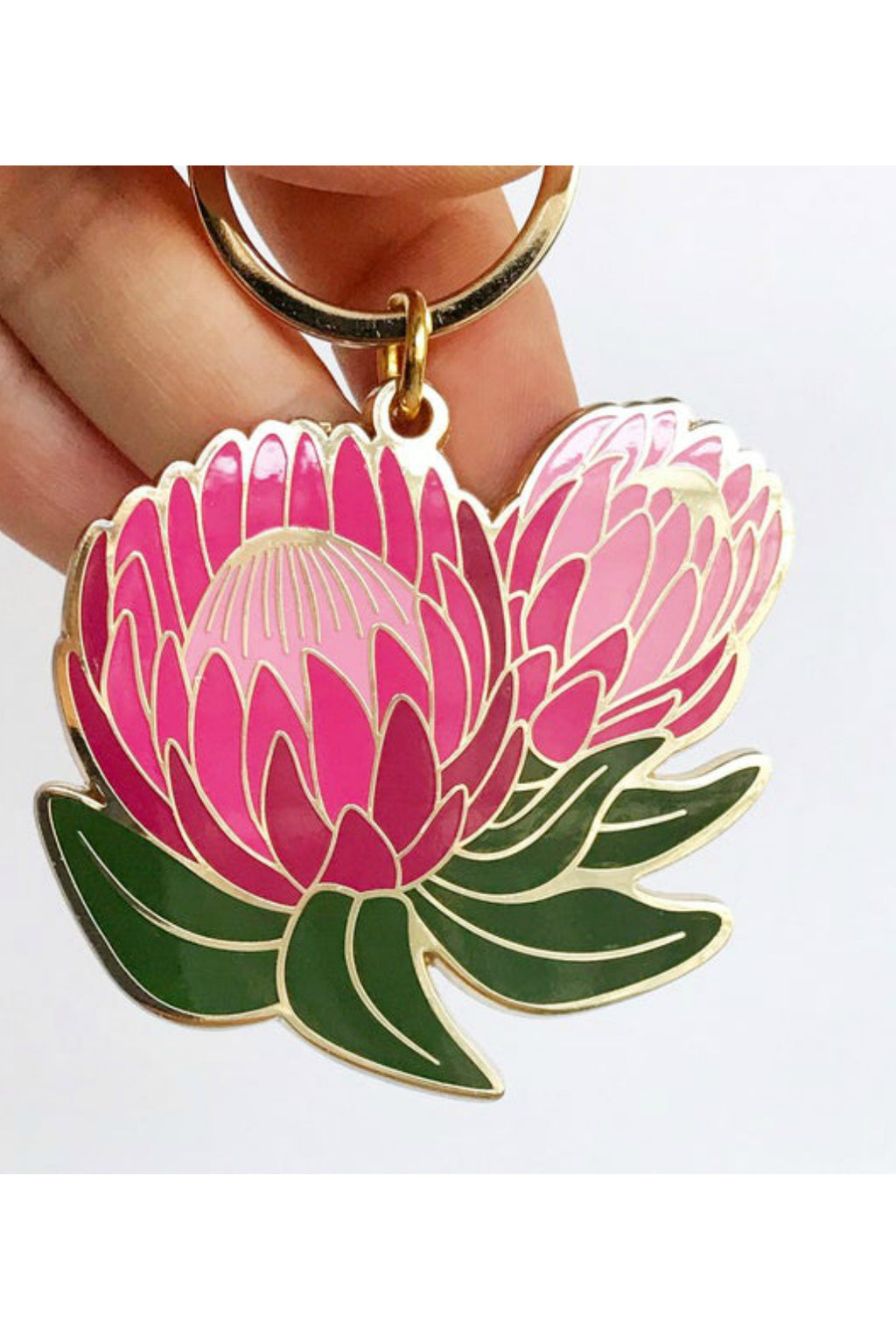 Paper Anchor Co. Ofelia Protea Floral Keychain