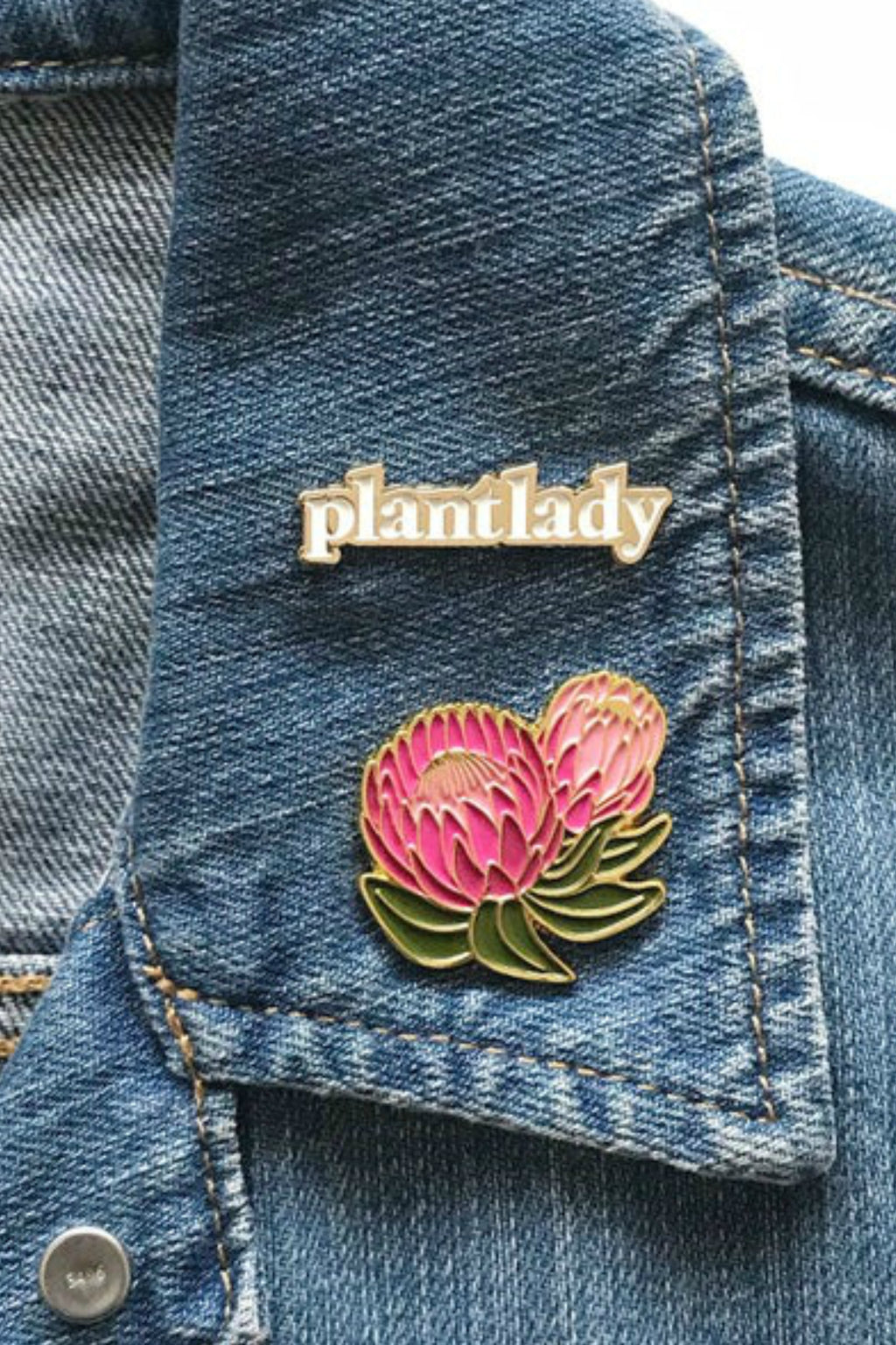 Paper Anchor Co. Plant Lady Lapel Pin