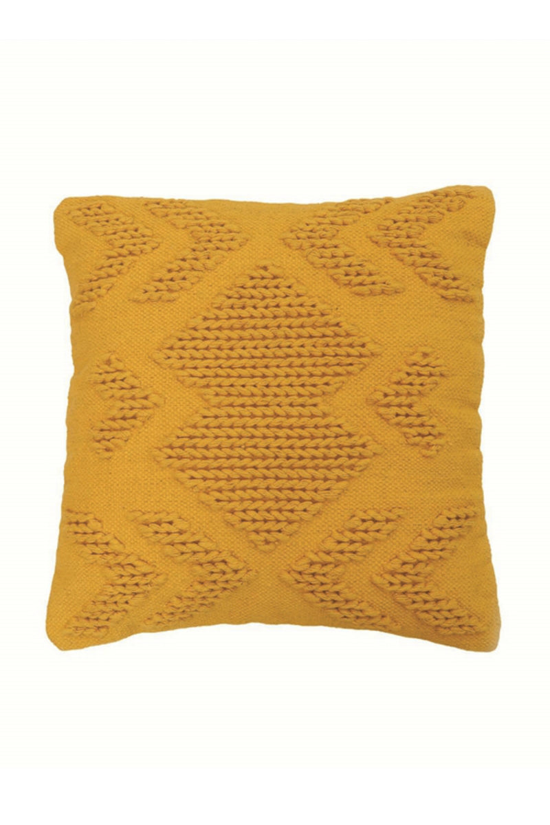 Foreside Nia Pillow in Mustard