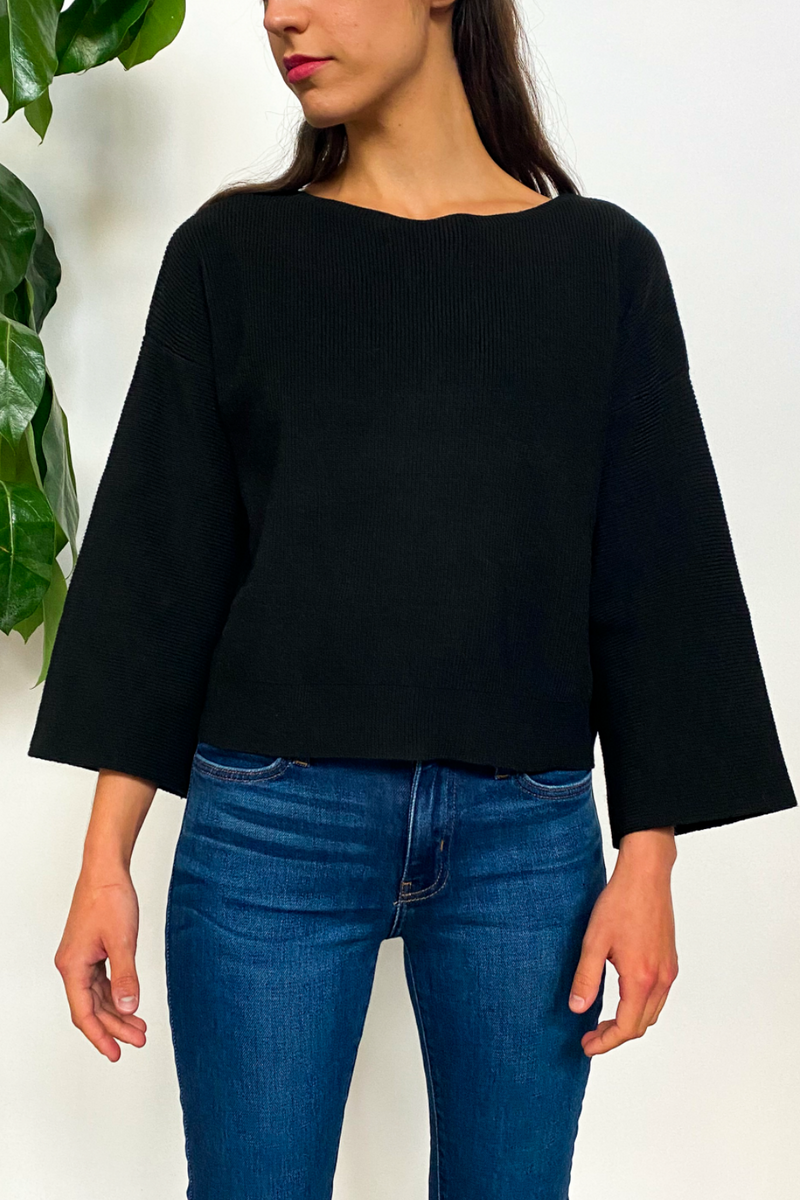 EcoVibe Obel Sweater in Black